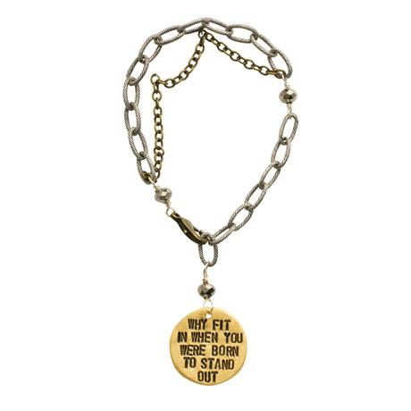 Hand-Stamped Message Tag Bracelet