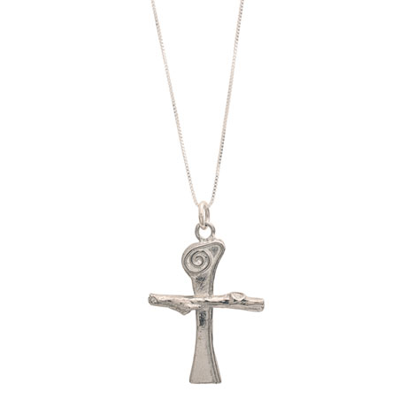 Scroll Cross Necklace