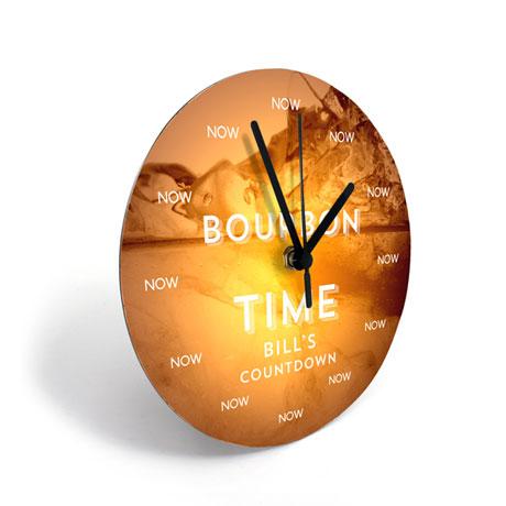 Personalized Bourbon Clock