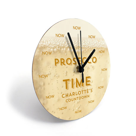 Personalized Prosecco Clock