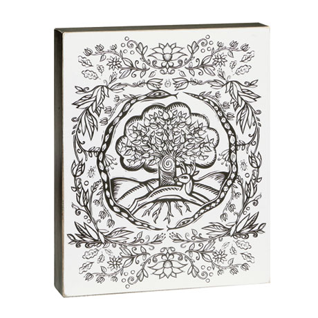 Color-Your-Own Wall Art - Tree Design
