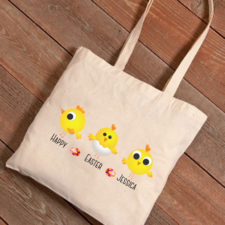 Personalized Easter Tote - Three Chicks