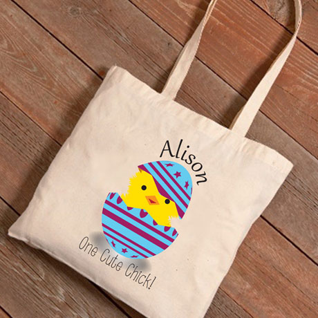 Personalized Easter Tote - One Cute Chick