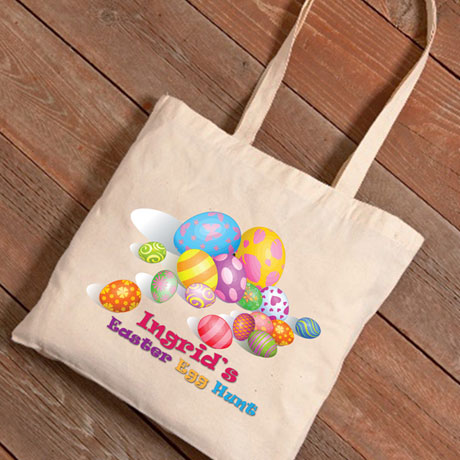 Personalized Easter Tote - Egg Hunt