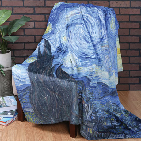 Van Gogh Starry Night Fleece Throw