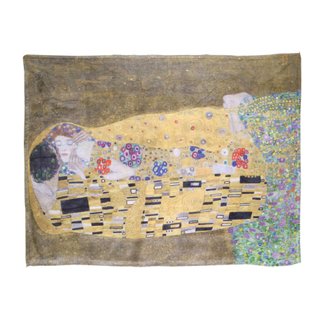 Klimt The Kiss Fleece Throw
