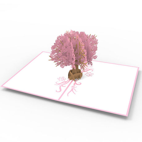 Magnolia Tree Lovepop Greeting Card