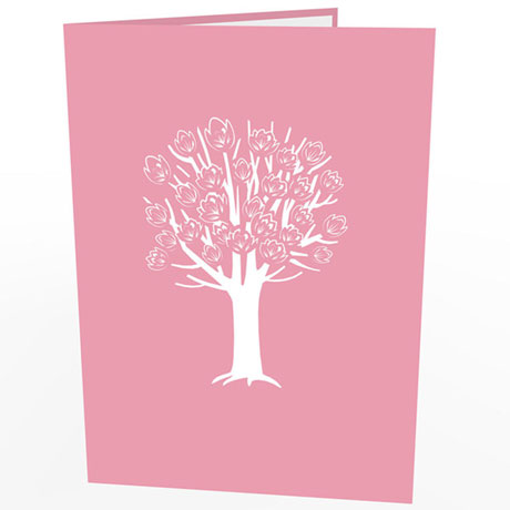 Magnolia Tree Lovepop Greeting Card