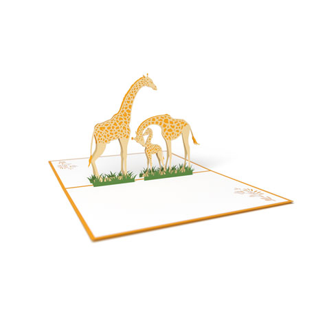 Giraffe Family Lovepop Card