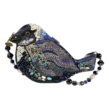 Mary Frances Songbird Beaded Handbag