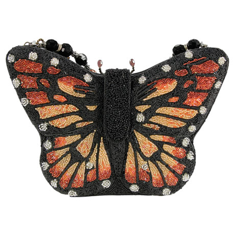 Mary Frances Monarch Butterfly Beaded Handbag
