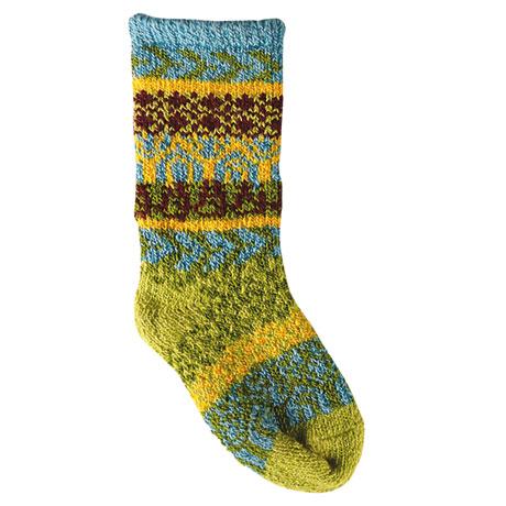 Fair Isle Knitted Baby Socks