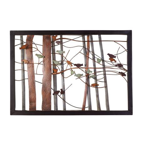 Woodland Birds Metal Wall Art
