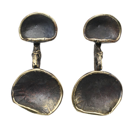 Bronze Lily Pad Earrings
