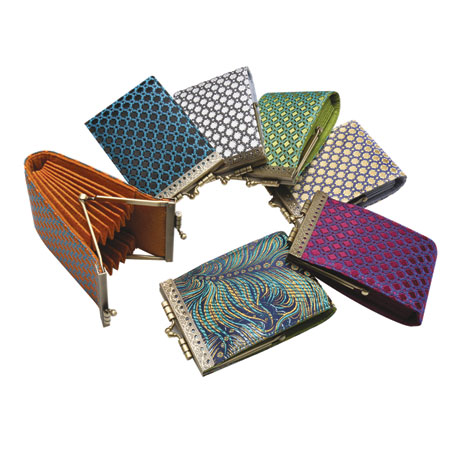 French Ten Slot Accordion Style Credit Card Wallet