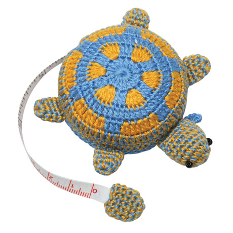 Crocheted Bunny, Owl, and Turtle Tape Measures