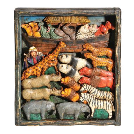Noah's Ark Retablo Frame - Handcrafted in Peru