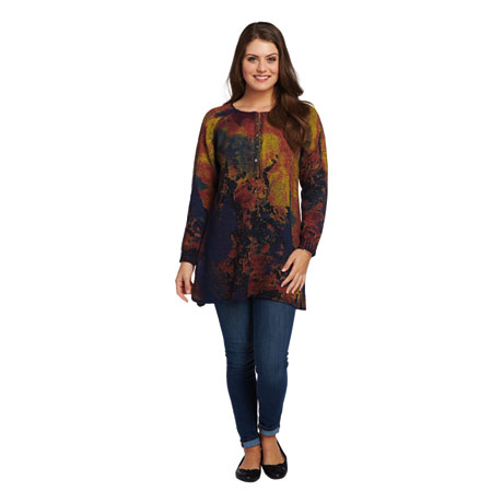 Hand-Painted Artistry Sweater Tunic