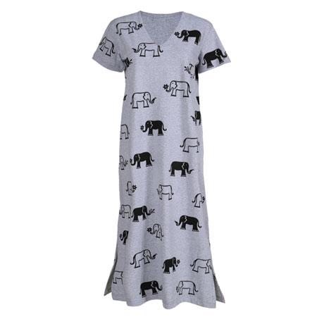 Elephants V-Neck Dress