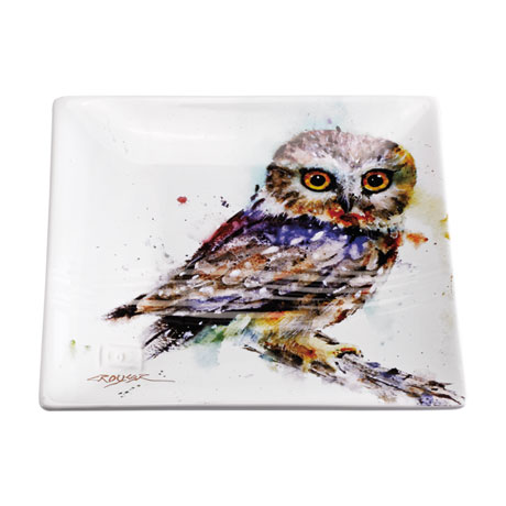 Northern Saw-whet Owl Snack Plate