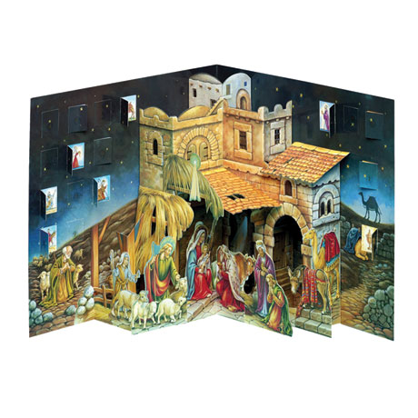 Nativity Scene Pop-Up Advent Calendar