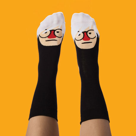 Silly Artist Socks - Andy Sock Hole