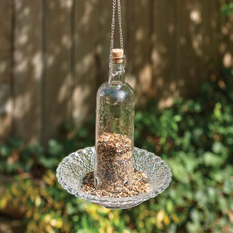 Victorian Glass Bird Feeder