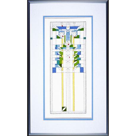 Frank Lloyd Wright Waterliles Cross Stitch Kit