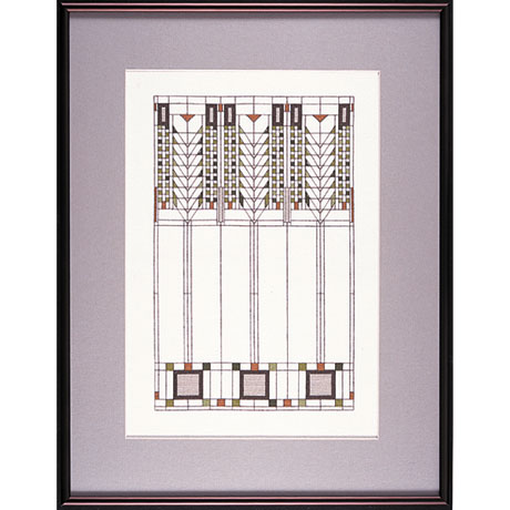Frank Lloyd Wright Tree of Life Cross Stitch Kit