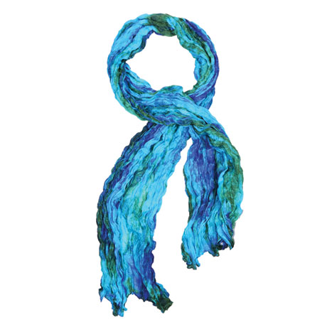 Hand-Dyed Twisted Silk Scarf