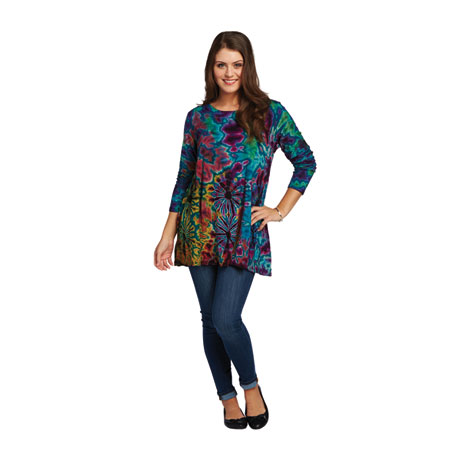 Midnight Garden Tie-Dye Tunic