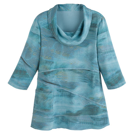 Muted Hues Cowl Neck Tunic