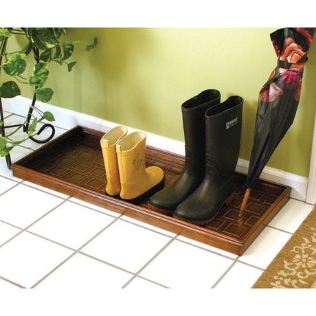Squares Copper Finish Multi-Purpose Boot Tray
