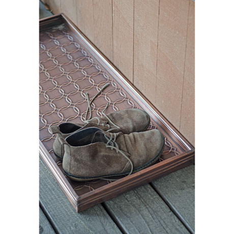 Circles Copper Finish Multi-Purpose Boot Tray