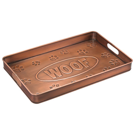 Woof Copper Finish Multi-Purpose Tray
