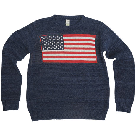Americana Recycled Cotton Crew Sweater