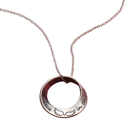 I Believe in Angels Mobius Necklace