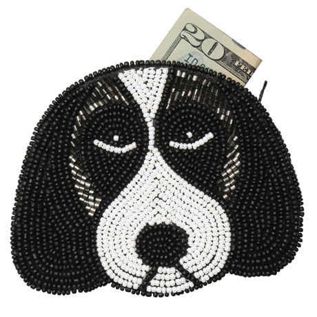 Beaded Coin Purse - Dog