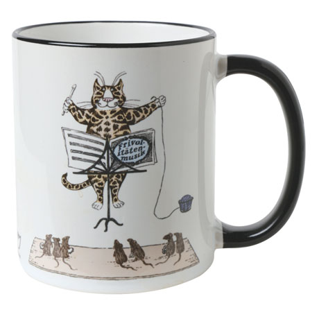 Edward Gorey Mugs - Conducting Cat
