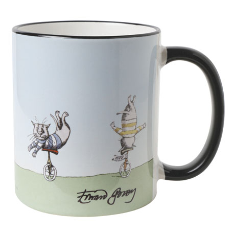 Edward Gorey Mugs - Unicyling Cats