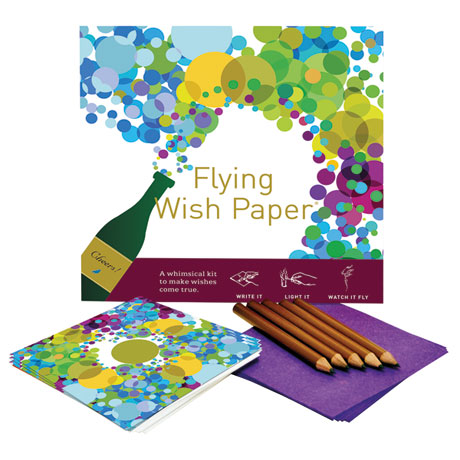 Champagne Party Flying Wish Paper Kit