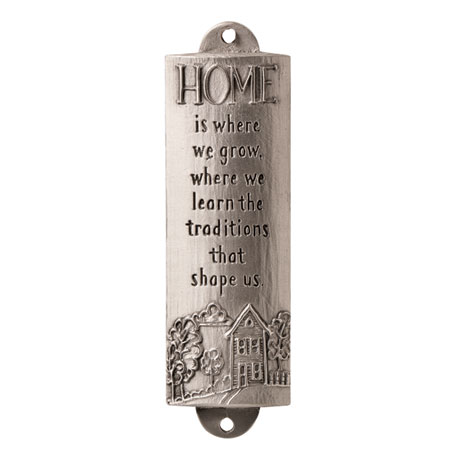 Home Is Where We Grow Pewter Room Blessing