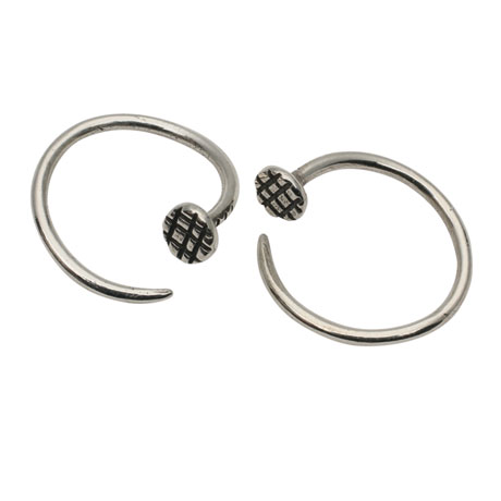 Nail Earrings - Sterling Silver