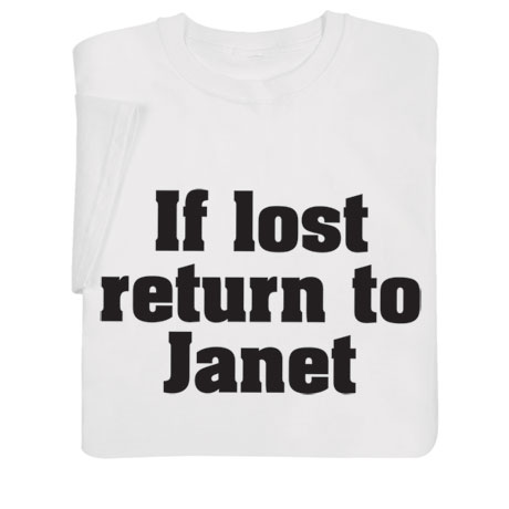 Personalized 'If Lost Return To' Shirts