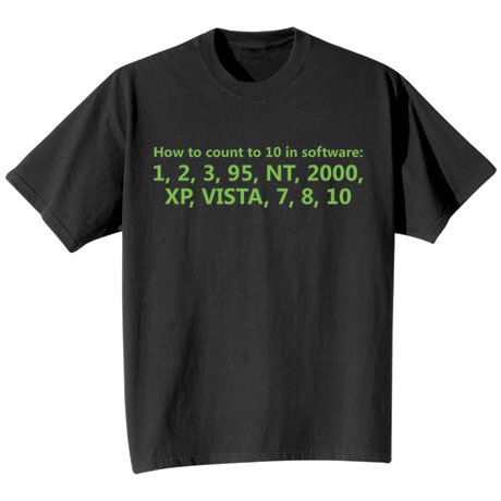 How to Count to Ten in Software Shirts