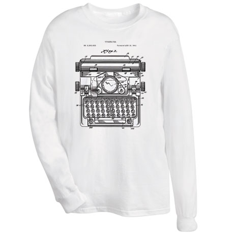 Manual Typewriter Patent Shirts