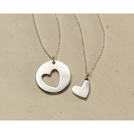 Shared Heart Necklaces