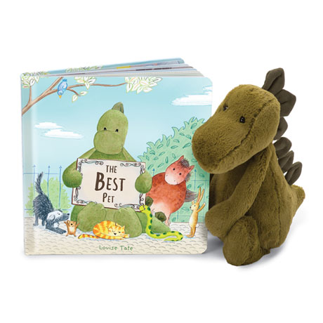 Best Pet Book and Dino Plush Set