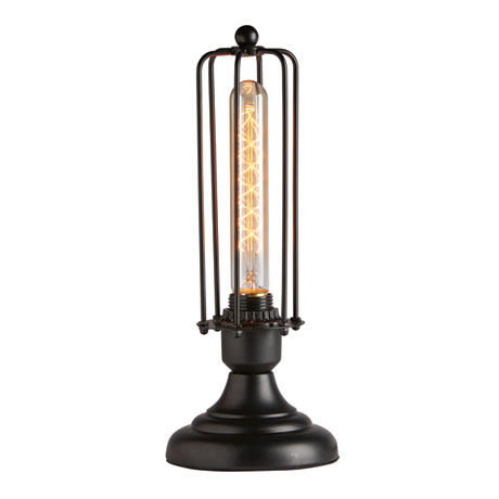 Edison Style Caged Table Lamp