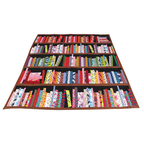 Library Quilted Bed Quilt: Twin